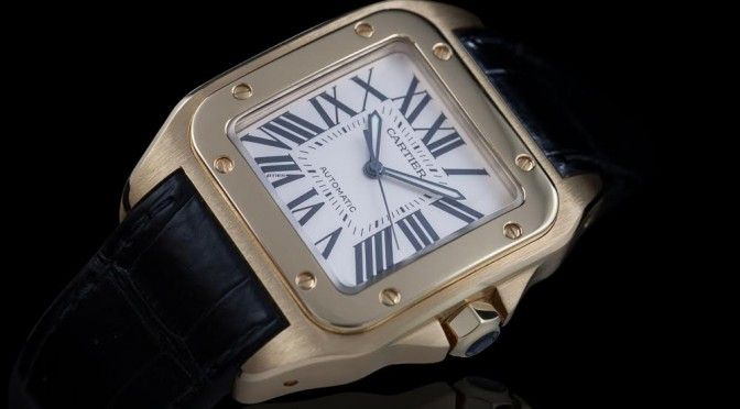 Cartier Santos 100 Yellow Gold