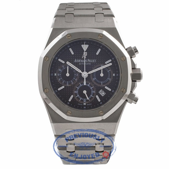 61d59e849b9 Audemars Piguet Royal Oak Chronograph 39MM Stainless Steel Blue Dial  25860ST.OO.1110ST.