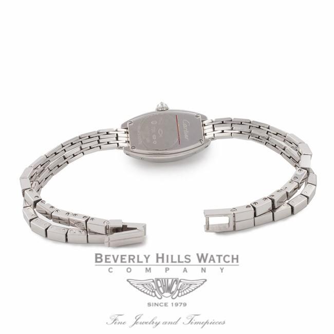 Cartier Laniere Tonneau La s White Gold Pave Diamonds Dial