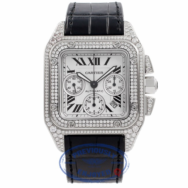 650 X 88 KB Jpeg Cartier Santos XL 100 Diamonds Source