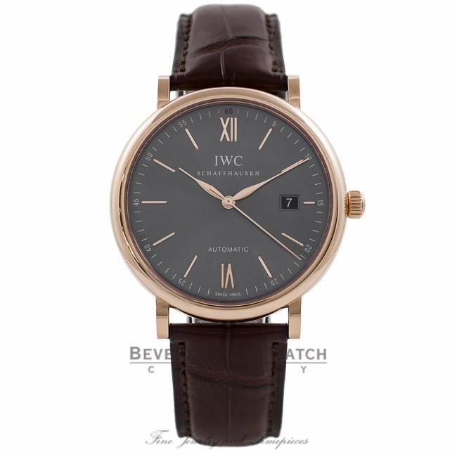 IWC Portofino 40MM 18k Rose Gold Grey Dial IW356511 ZXDXDJ - Beverly Hills  Watch Company Watch ... fab7b9fbc8