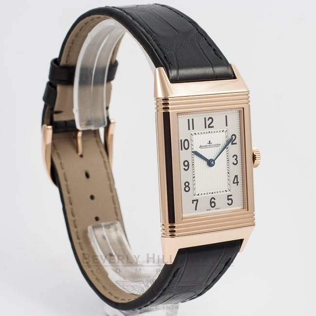 593ae828a3d08 ... Jaeger LeCoultre Grande Reverso Ultra-Thin Manual Wind Leather Strap  Watch 278.25.20 Beverly ...