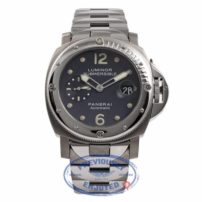 Panerai Luminor Submersible Slate Dial Stainless Steel Titanium PAM000170  PQK3B5 - Beverly Hills Watch Company Watch ... ee6b7baac7b4