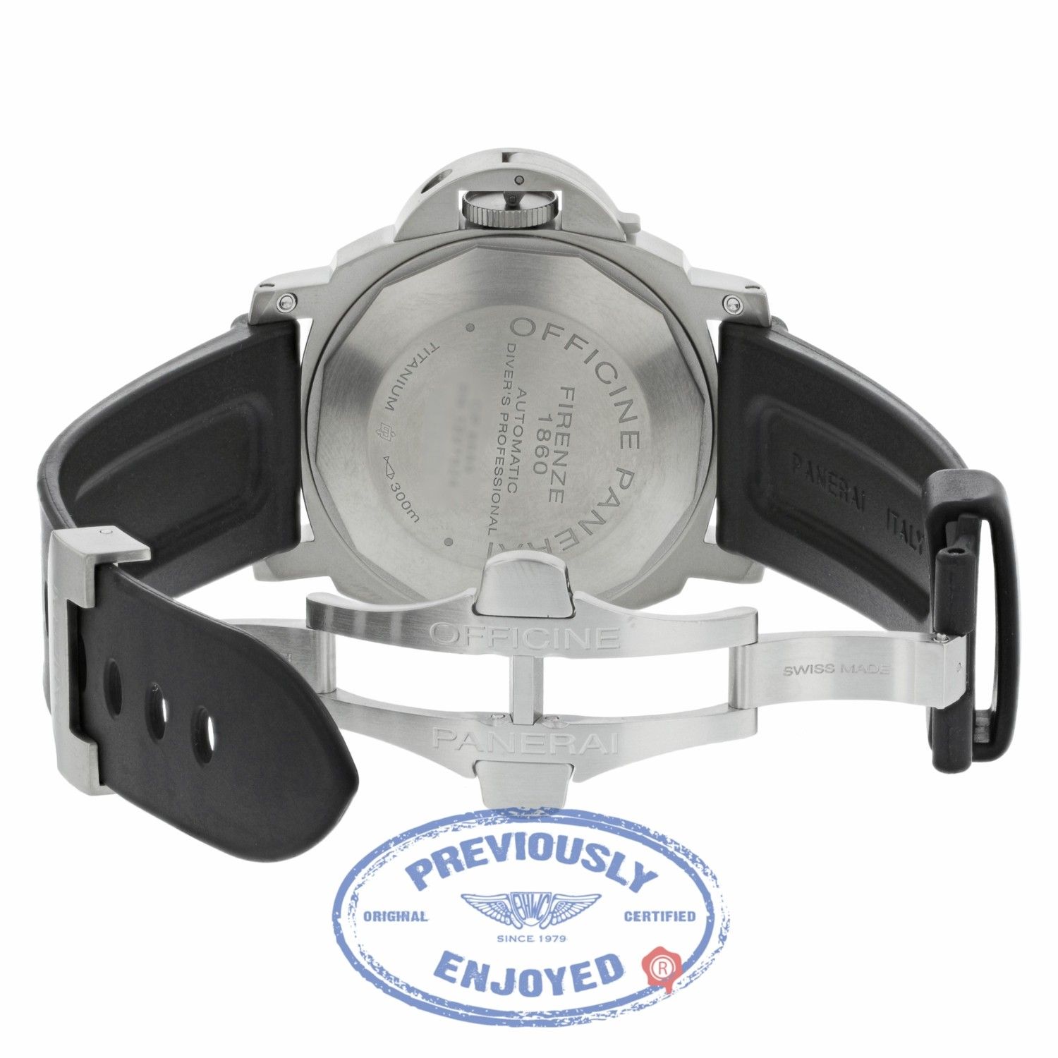 06e7272f7d7 Panerai Luminor Submersible Black Dial Rubber Strap PAM00025 2HQ6VY -  Beverly Hills Watch Company