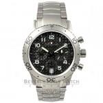 BREGUET TYPE XX TRANSATLANTIQUE 39mm Titanium Case/Bracelet Black Carbon Fiber Dial Watch 3820TI-K2-TW Beverly Hills Watch Company Watches