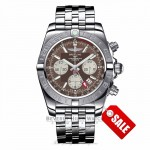 Breilting Chronomat 44 GMT Brown Dial 44MM Stainless Steel AB042011/Q589 1ZW5YF - Beverly Hills Watch Company Watch Store
