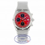 """Breitling Chronomat """"The Red Arrows"""" 40mm Stainless Steel Red Dial A13050 4JTVP7 - Beverly Hills Watch Company"""