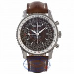 Breitling Montbrillant Datora Stainless Steel Bronze Dial 43MM Alligator Strap A2133012/Q509 KZAAL2 - Beverly Hills Watch Company