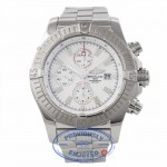 Breitling Super Avenger 48MM Chronograph White Dial A1337011/A660 A6J63U - Beverly Hills Watch Company Watch Store