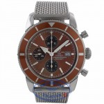 Breitling Super Ocean Heritage Chronograph Stainless Steel 46MM Bronze Dial & Bezel Bracelet A1332033 MXC02C - Beverly Hills Watch Company Watch Store
