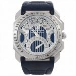 Bulgari Octo Quadri Retro 45mm Blue Dial Blue Calfskin Leather Strap BGO45C35LDCHQR/MAS 8DP46E - Beverly Hills Watch Store