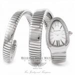 Bulgari Serpenti Stainless Steel Double Wrap SP35C6SDS.2T HA4E4U - Beverly Hills Watch Company Watch Store