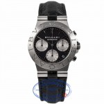 Bvlgari Diagono Chronograph Stainless Steel Automatic Black Dial CH 35 S FBMSU5 - Beverly Hills Watch Company Watch Store