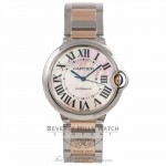 Cartier Ballon Bleu Rose Gold and Stainless Steel Pink Mother of Peal Dial W6920033 NNWT7M - Beverly Hills Watch Company Watch Store