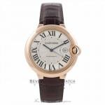 Cartier Ballon Bleu Large 18k Rose Gold Silver Dial W6900651 NAJN3E - Beverly Hills Watch Company Watch Store