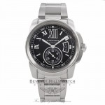 Cartier Calibre 42MM Automatic Steel Watch Black Dial Watch W7100016 ISYZ4W - Beverly Hills Watch Company Watch Store