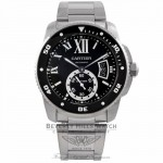 Cartier Calibre De Cartier Diver 42MM Stainless Steel Black Dial Automatic ADLC Bezel on Bracelet W7100057 M3V4CK - Beverly Hills Watch Company Watch Store