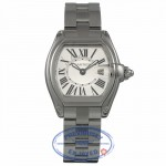 Cartier Roadster Stainless Small Stainless Steel Silver Roman Dial Watch W62016V3 845VF8 - Beverly Hills Watch Company