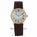 Cartier Ronde Solo XL 36mm 18k Rose Gold Silver Dial W6701008 F5N695 - Beverly Hills Watch Company
