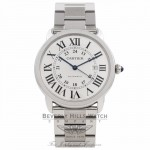 Cartier Ronde Solo XL Stainless Steel 42MM W6701011 2Z2UAA  - Beverly Hills Watch Company Watch Store