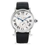 Cartier Rotonde 42mm Automatic Silver Dial Black Leather W1556368 JPUTNE - Beverly Hills Watch