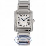 Cartier Tank Francasie Medium Custom Diamond Bezel Set 2301 WFI4LX - Beverly Hills Watch Company Watch Store