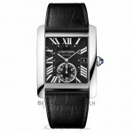 Cartier Tank MC Automatic Black Dial Black Leather W5330004 J7HHHN - Beverly Hills Watch Company