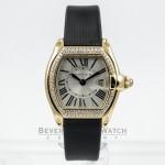 Cartier Roadster Yellow Gold Diamond Bezel Ladies Watch WE500160 Beverly Hills Watch Company Watches