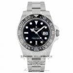 Rolex GMT Master II 40mm Stainless Steel Black Dial Black Ceramic Bezel 116710 - Beverly Hills Watch