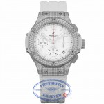 Hublot Big Bang 41mm Diamond Bezel and Case Stainless Steel White Dial 342.SE.230.RW.174 LUHHR8 - Beverly Hills Watch Company