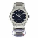 Hublot Classic Fusion Auto 45mm Zirconium Titanium Black Dial Titanium Bracelet 511.ZX.1170.RX 98TM27 - Beverly Hills Watch Company