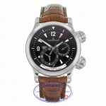 Jaeger LeCoultre Master Compressor GeoGraphic Stainless Steel Black Dial Y811VN - Beverly Hills Watch