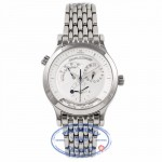 Jaeger LeCoultre Master Geographic Dual Time Silver Dial 142.8.92 UTEPGT - Beverly Hills Watch Company Watch Store