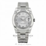 Rolex Datejust Stainless Steel 36mm Domed Bezel 116200 - Beverly Hills Watch
