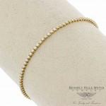 18K Yellow Gold Diamond Tennis Diamonds Bracelet 37627B 5N603Y - Beverly Hills Watch