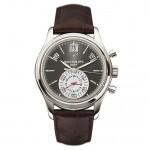 Patek Philippe Platinum Case Annual Calendar Chronograph Slate Silver Dial 40.5mm 5960P-001 KCSCXX - Beverly hills Watch Company Watch Store