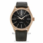 Rolex Cellini Time 18k Rose Gold Domed & Coin Edge Bezel Black Dial 50505 LC2T7E - Beverly Hills Watch Company