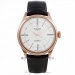 Rolex Cellini Time 18k Rose Gold Domed & Fluted Double Bezel White Lacquer Dial 50505 HAV6DW - Beverly Hills Watch Company Watch Store