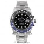 Rolex GMT Master II Bruiser Black/ Blue Ceramic Bezel Stainless Steel 116710 AKJN4T - Beverly Hills Watch Company