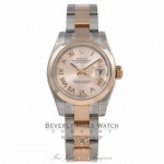 Rolex DateJust 26MM Rose Gold Stainless Steel Pink Dial 179161 T7XC30 - Beverly Hills Watch Store