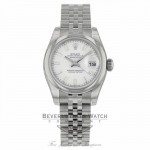 Rolex Datejust 26mm White Index Dial Jubilee Bracelet 179160 67M8MM - Beverly Hilss Watch Company