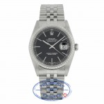 Rolex Datejust 36mm Stainless Steel Black Dial Index Hour Markers 16220 K8ZN7E - Beverly Hills Watch