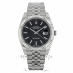 Rolex Datejust II 41mm 18k White Gold Fluted Bezel Stainless Steel Jubilee Bracelet 126334 K53Y8N - Beverly Hills Watch