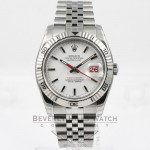 Rolex Datejust 36mm Stainless Steel Jubilee Bracelet Turn-O-Graph Bezel White Stick Dial Watch 116264 Beverly Hills Watch Company Watches