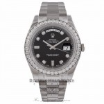 Rolex Day-Date II President 18K White Gold Diamond Bezel and Dial 218349 1U3VH8 - Beverly Hills Watch Store