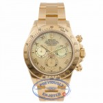 Rolex Daytona 40MM 18k Yellow Gold Yellow Mother of Pearl Dial 116528 L56ZR9 - Beverly Hills Watch Store
