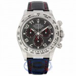 Rolex Daytona 40MM White Gold Black Dial Arabic Alligator Strap 116519 QN58JK - Beverly Hills Watch Company Watch Store