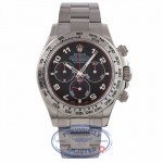 Rolex Daytona Chronograph 18K White Gold Oyster Bracelet Slate Dial 116509 69984W - Beverly Hills Watch Company Watch Store