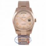 Rolex Day-Date President 36MM 18k Rose Gold Domed Bezel Pink Roman 118205 0AL4AL - Beverly Hills Watch Company Watch Store