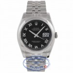 Rolex Datejust 36MM Stainless Steel Domed Bezel Black Dial 116200 L7H9H6 - Beverly Hills Watch Company Watch Store